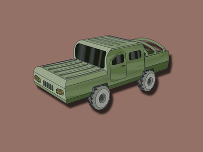 Pickup. Cars #7 pickup vector illustration art car pickup truck