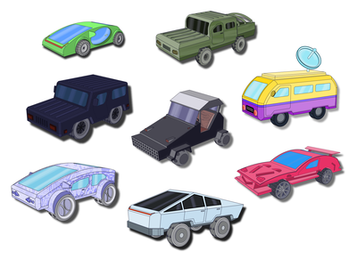 All Cars vector illustration art cars models car