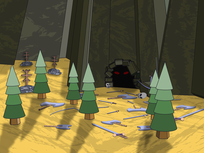 Mount. Fantasy illustration #2 vector illustration art fantasyart fantasy weapon forest mountain mount