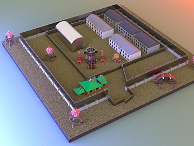 Corrective colony No. 2 pokrov warcraft 3d art 3d architecture building jail colony