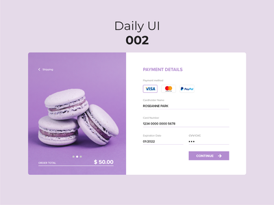 #DailyUI #002 - Credit Card Checkout checkout page checkout macarons dessert design ui concept sweet dailyui 002 dailyuichallenge forms payment payment method webdesign website daily 100 challenge daily ui credit card checkout