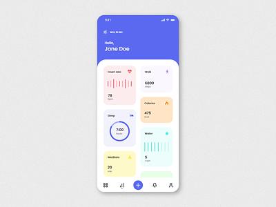 #DailyUI #018 - Analytics Chart chart adobe xd mobile mobile ui app ux design dailyuichallenge daily ui daily 100 challenge dailyui ui dashboad analytics chart analytics health tracker health