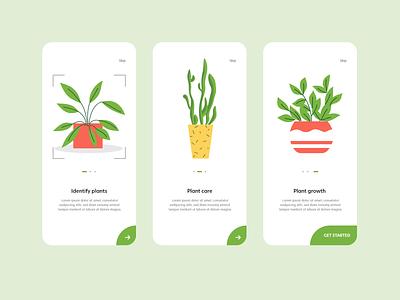 #DailyUI #023 - Onboarding 023 plant care plants app plants adobe xd mobile dailyui mobile ui app ux design dailyuichallenge daily ui ui