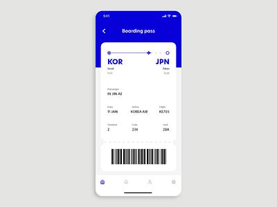 DailyUI #024 - Boarding Pass 024 plane ticket boarding boarding pass flight adobe xd mobile dailyui mobile ui app ux design dailyuichallenge daily ui ui