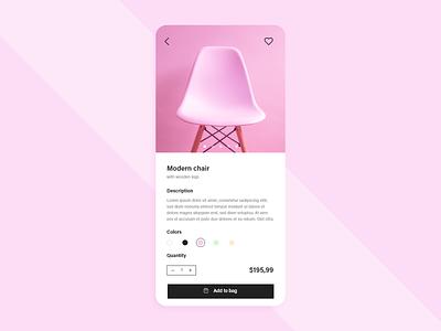 #DailyUI #033 - Customize Product 033 customize product product shopping app shopping adobe xd mobile mobile ui app dailyui ux design dailyuichallenge daily ui ui