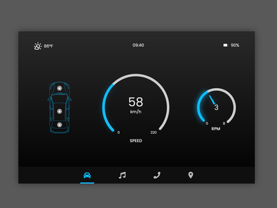 #DailyUI #034 - Car Interface 034 car car interface adobe xd ux dailyui design dailyuichallenge daily ui ui