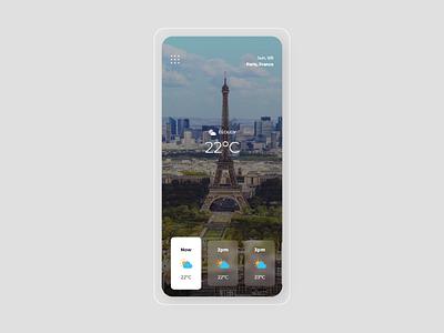 #DailyUI #037 - Weather 037 temperature weather mobile ui mobile adobe xd app dailyui ux design dailyuichallenge daily ui ui