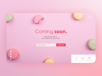 #DailyUI #048 - Coming Soon subscribe form coming soon page coming soon 048 web design web branding website adobe xd dailyui ux design daily ui ui