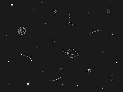 #DailyUI #059 - Background Pattern adobe illustrator illustrator 059 constellation planet stars galaxy vector illustration daily ui background pattern dailyui ui