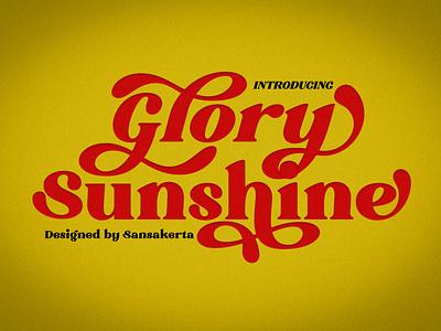 gloryy summer sale ligature font chrismast chrismast font elegant font display font daily type logo typeface decorative font