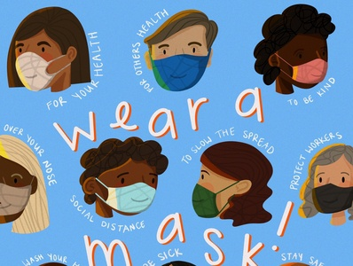 Wear a Mask! ipadpro graphic design handlettering procreate public health coronavirus illustration instagram post design childrens book illustration