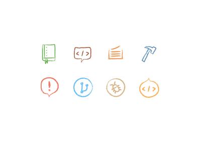 Chalk board icons