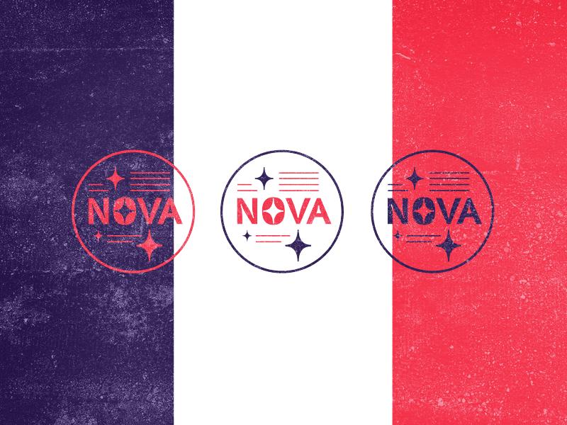 Nova letters stamp logo