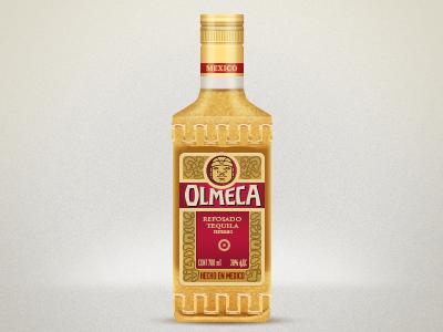 Olmeca bottle glass