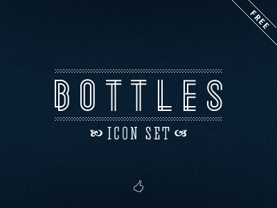 Bottles icon bottle glass