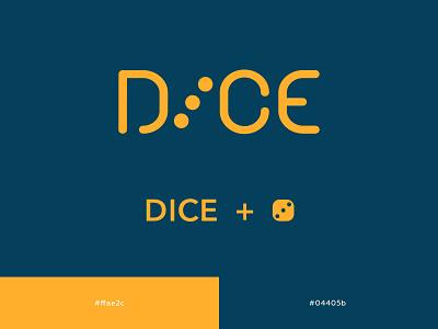 DICE process typography lettering art vector logo branding design digital