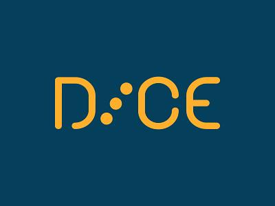 D I C E icon branding vector lettering design art logo digital