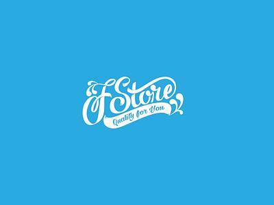 FStore icon typography branding logo lettering vector art digital design