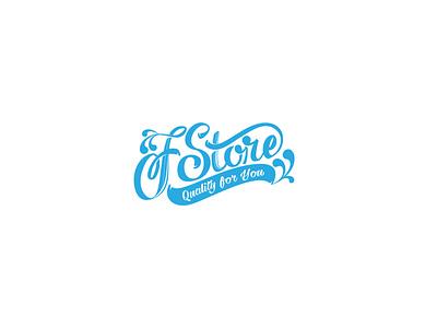 FStore typography icon branding logo lettering vector art digital design