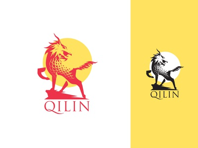 Qilin Network branding icon illustration logo lettering vector art digital design