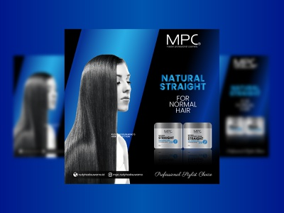 Natural Straight for Normal Hair product packaging flyer vector art digital design