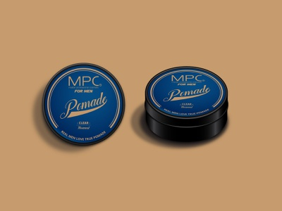 MPC Pomade packaging mockup product branding vector digital design art