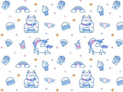BabyBurgs Illustration Pattern