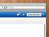Admin Webapp - Right top bar
