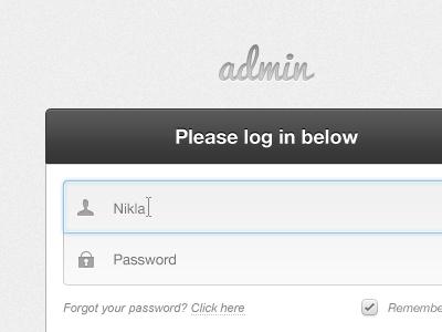 Please log in below log in log in login admin gui web webapp website input