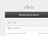 Please log in below