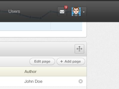 Web App Header header menu mail user settings graph button move admin webapp web app