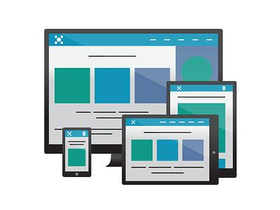 Responsive website display image responsive vector