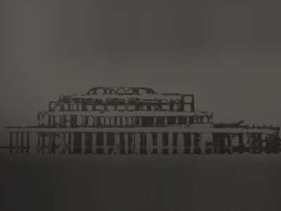 West Pier, Brighton UK effects illustrator photoshop pier uk brighton charcoal