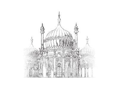 Brighton Pavilion photoshop sketch brighton