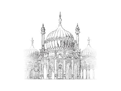 Brighton Pavilion photoshop sketch brighton