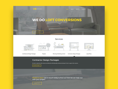 VR Designs Website wordpress illustration building website web