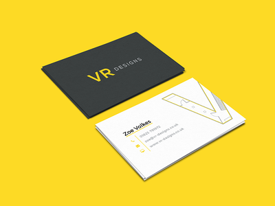 VR Designs Business Cards floor plan business cards