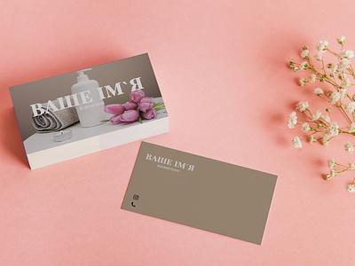 Визитки для бьюти сферы branding typography услуги печать макияж design брови businesscard