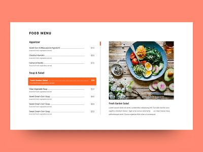 Food Menu Section website motel restaurants hotels ui ux section menu food
