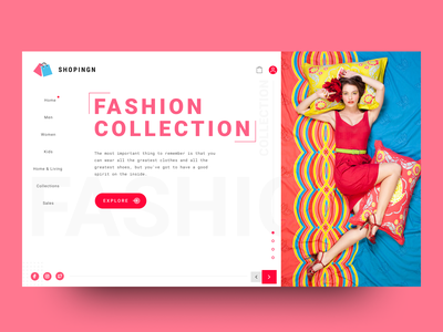 Online Shoping Website Landing Page online store shopping userexperience userinterface collection landingpage landing fashion