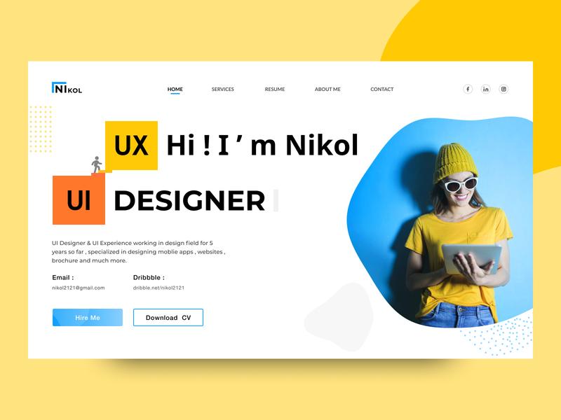 Nikol - Portfolio | Landing Page landing design landing page nikol designer design websites ux ui portfolio