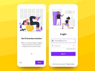 Fitness App - UI exercise online illustration phone design mobile uiux ui app fitness