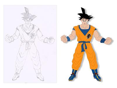 Goku | Dragon Ball Z | Cartoon Character 3d vector illustrator illustration character cartoon illustration cartoon dragon ball z goku