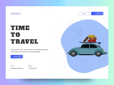 Book Travel Services |  Web UI herosection landingpage website ux ui time services tour trip travelling