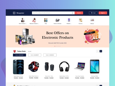 Ecommerce Website | User Interface research visualmockup userexperience electronics products userinterface uiux webdesign website ecommerce