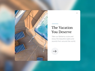 Modal Design ocean sail card wip boat web graphic design concept website ux ui