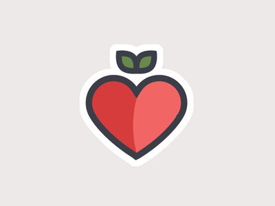 Principal's Exchange WIP wip icon red heart apple design graphic illustration mark line logo