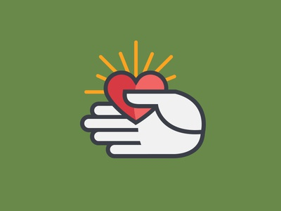 Principal's Exchange Alternate Mark WIP wip icon red heart apple design graphic illustration mark line logo