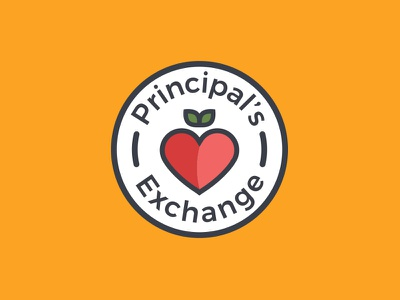 Principal's Exchange Lockup WIP wip icon red heart apple design graphic illustration mark line logo