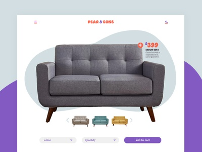Pear & Sons Product Card card ux ui website web modern product furniture design graphic web design